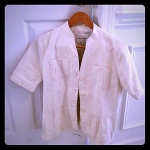 Banana Republic Short-sleeved blazer size 6 tall